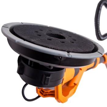 Шлифовальная машинка орбитальная (эксцентриковая) для стен и потолков с удобной телескопической ручкой. Удобная работа без стремянок и строительных ходуль, используйте для зачистки (шлифовки, штукатурки) стен и потолков из гипрока или отштукатуренных стен